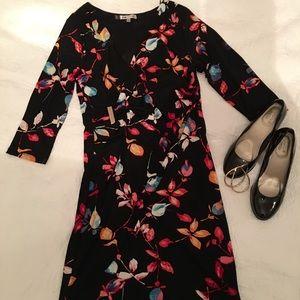 Jennifer Lopez Faux Wrap Dress
